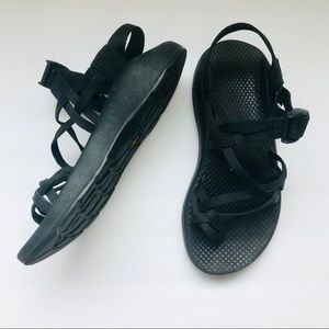 Black Strappy Chaco Sandals Sz 7